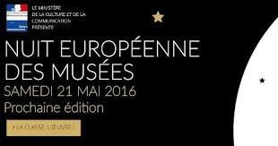 NE MANQUEZ PAS LA 12ÈME ÉDITION DE LA NUIT EUROPÉENNE DES MUSÉES