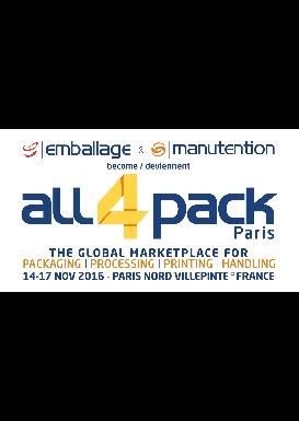 SALON DE L'EMBALLAGE ET DE LA MANUTENTION (ALL4PACK)